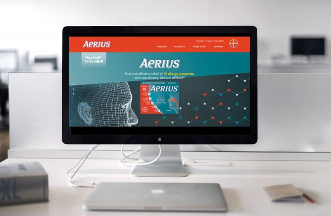 Aerius Canada website home page