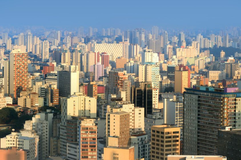 Panoramic view of SaoPaulo urban area
