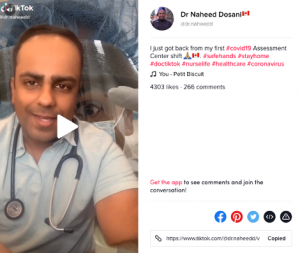 Dr. Naheed Dosani (@dr.naheedd) shares about his first COVID-19 Assessment shift and the number of patients he has seen that day.